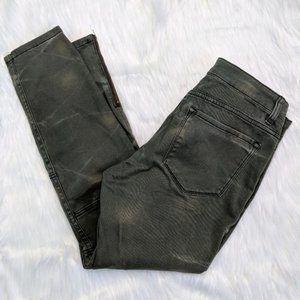 BDG Army Green Skinny Zip Ankle Crop Pant Jeans 27